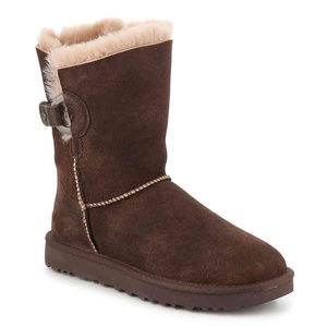 UGG NASH BUCKLE SUEDE SHEARLING BOOTS NEW!